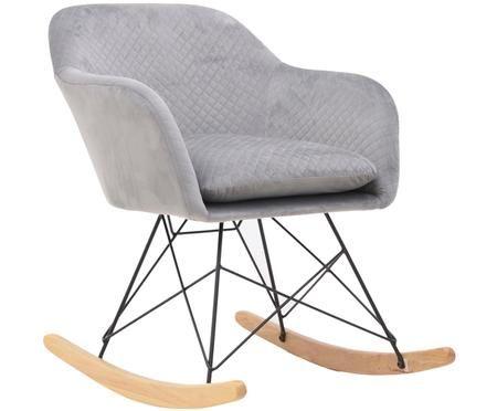 Krzesło bujane z aksamitu Lora