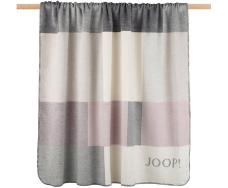Plaid in pile Bold in grigio e rosa