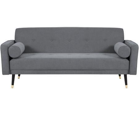 Sofa rozkładana z aksamitu Alessia (3-osobowa)