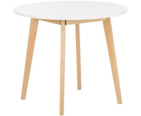 Mesa de comedor pequeña y redonda en diseño escandinavo Raven