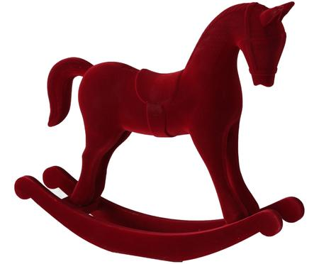 Fluwelen decoratief object Rocking Horse