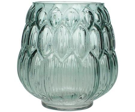 Glas Vase Berry in Petrol