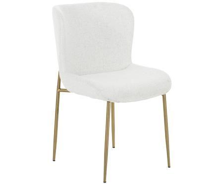 Krzesło tapicerowane bouclé Tess