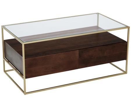 Tavolino da salotto Theodor con cassetti