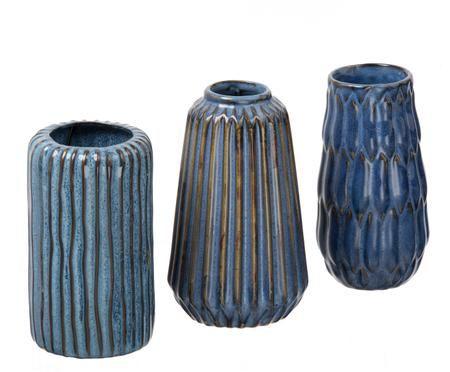 Komplet wazonów Aquarel, 3 elem.