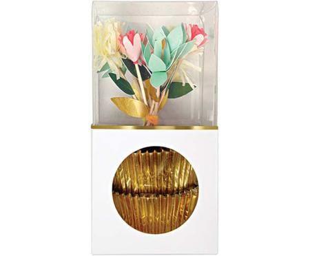 Accessoires à cupcakes Flower, 24 élém.