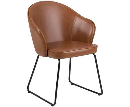 Krzesło z podłokietnikami ze sztucznej skóry  Mitzie