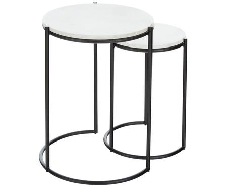 Set tavolini in marmo Ella