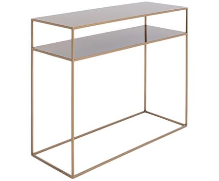 Metalen sidetable Tensio Duo in messingkleur