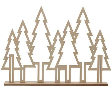Struttura con pini decorativi Waldi