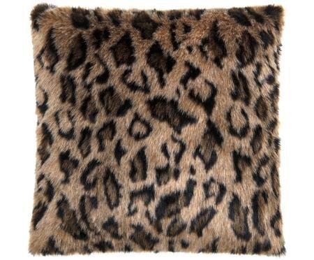 Kunstfell-Kissenhülle Lee mit Leopardenmuster