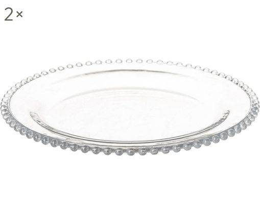 Dessertteller Perles, 2 Stück, Transparent