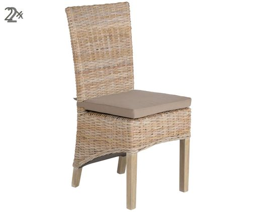 Krzesło Kubu, 2 szt., Szary