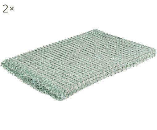 Asciugamani per ospiti Ola, 2 pz., Verde