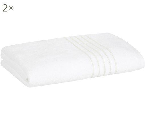 Asciugamani per ospiti Alice con bordo in lurex, 2 pz., Bianco
