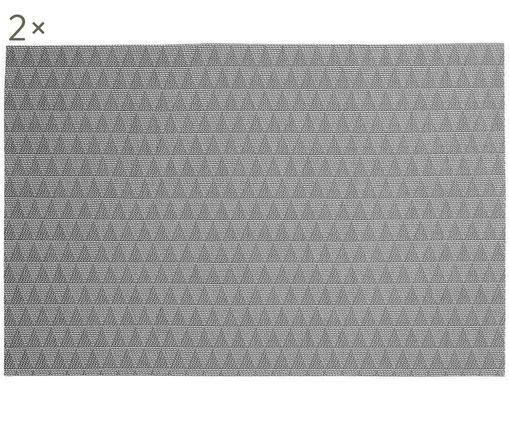 Set tovagliette Lohan Triangle, 2 pz., Grigio