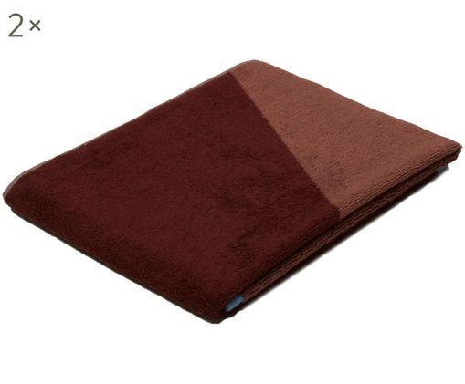 Asciugamano Shades, 2 pz., Vino rosso, rosa, azzurro