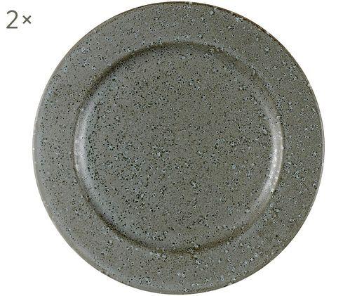 Piatto piano Plate, 2 pz., Grigio