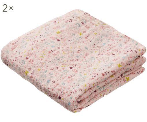 Pañales de tela Fleur, 2 uds., Rosa, rojo, azul, amarillo