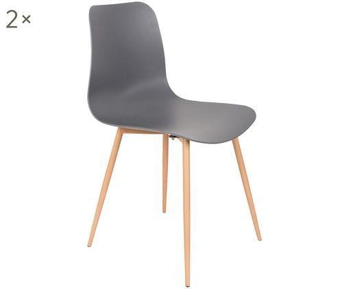 Krzesło Leon, 2 szt., Szary