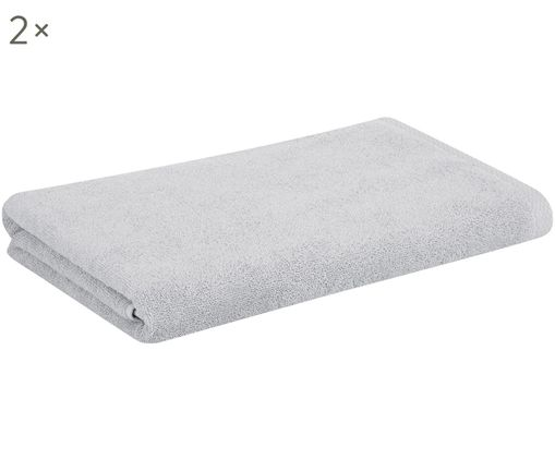 Handtücher Comfort, 2 Stück, Hellgrau