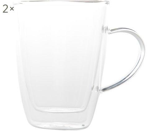 Bicchieri da tè a doppia parete Isolate, 2 pz., Trasparente