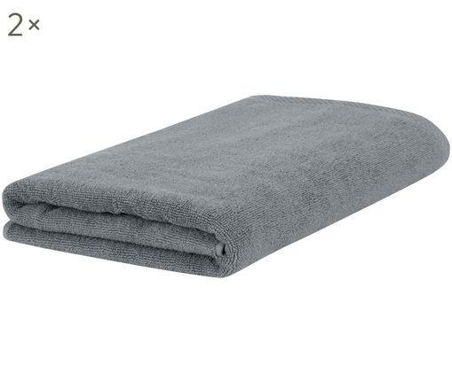 Handtücher Comfort, 2 Stück, Dunkelgrau