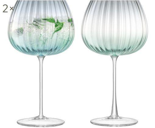 Copas de vino artesanales Dusk, 2uds., Verde, gris