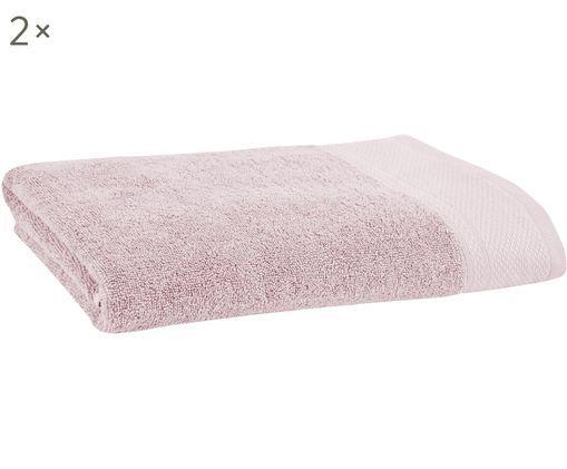 Asciugamani per ospiti Premium, 2 pz., Rosa cipria