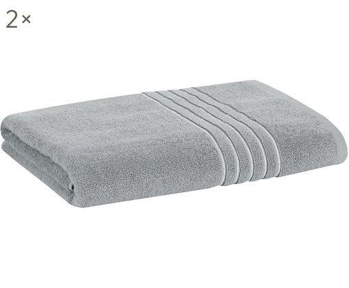 Asciugamani per ospiti Alice con bordo in lurex, 2 pz., Grigio
