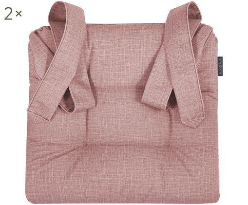 Sitzkissen Dina, 2 Stück, Altrosa
