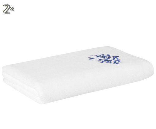 Handtücher Nala, 2 Stück, Weiß,Blau