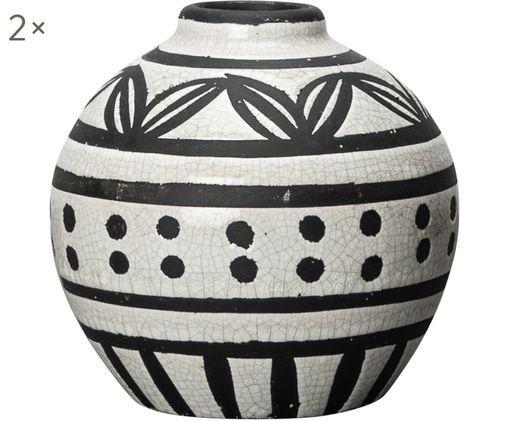 Vaso Marrakech, 2 pz., Bianco, nero