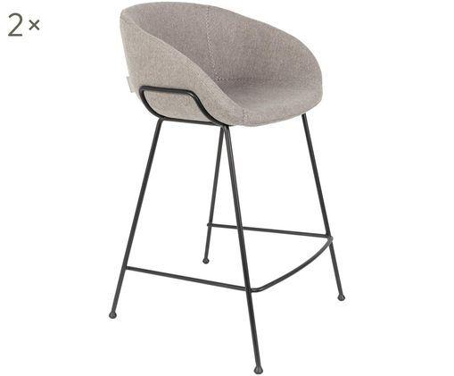 Krzesło kontuarowe Feston, 2 szt., Szary