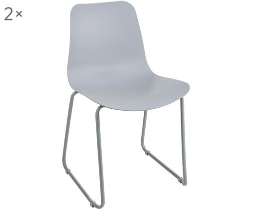 Krzesło Rockford, 2 szt., Jasny szary