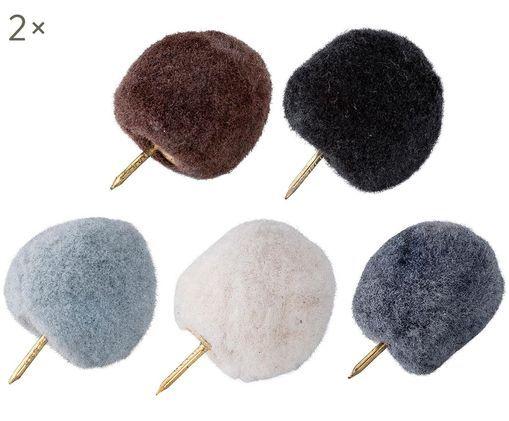 Set perni Pompom, 10 pz., Azzurro, bianco, blu, marrone, nero
