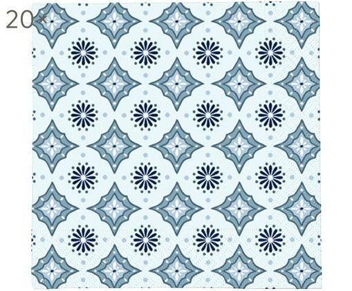 Tovaglioli di carta Foulard, 20 pz., Blu