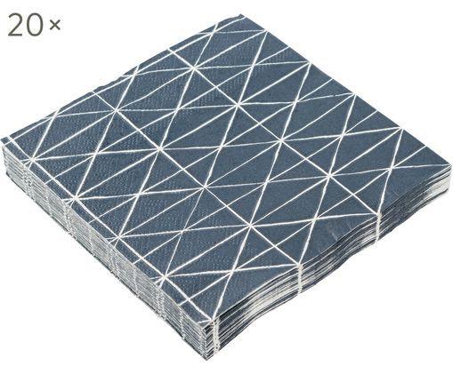 Tovagliolo di carta Ystad, 20 pz., Blu, bianco