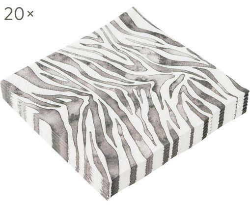 Tovagliolo di carta Zeewild, 20 pz., Grigio, bianco