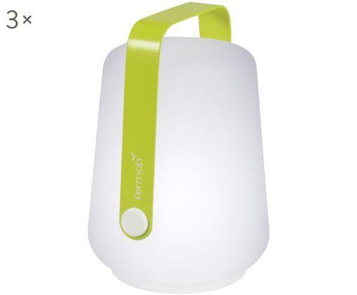 Mobile LED Außenleuchten Balad, 3 Stück, Hellgrün