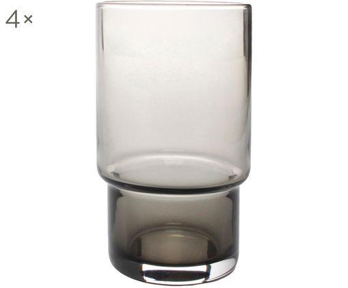 Wassergläser Secrets in Grau, 4er-Set, Grau, transparent