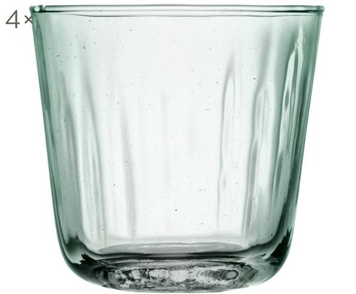 Bicchieri per l'acqua  Mia, 4 pz., Turchese trasparente