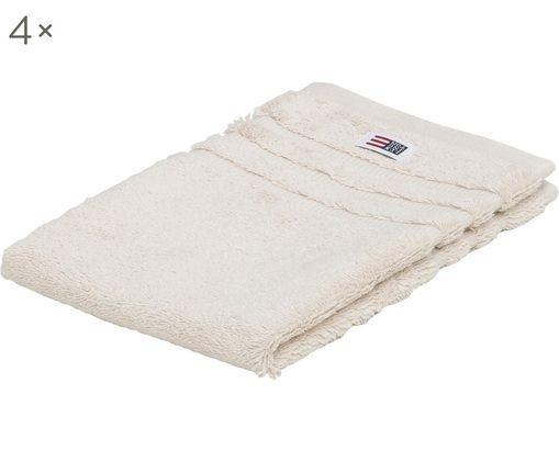Asciugamano per ospiti Mona, 4 pz., Beige chiaro