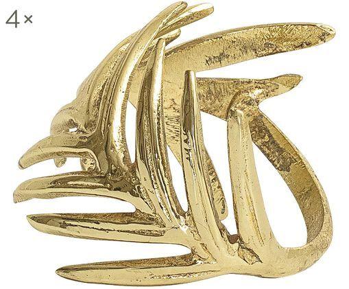 Obrączka na serwetkę Gina, 4szt., Odcienie złotego