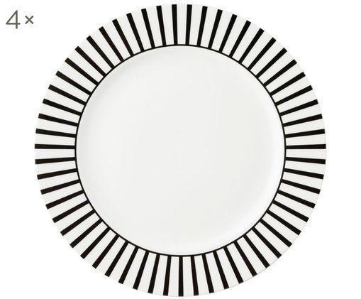 Assiettes à dessert Ceres Loft, 4 pièces, Blanc, noir