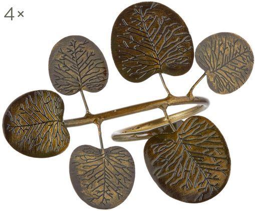 Portatovaglioli Eucalyptus Branch, 4 pz., Ottone