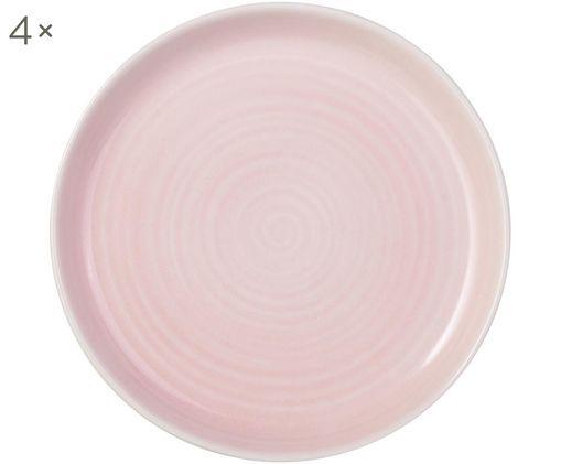 Frühstücksteller Pinch, 4 Stück, Rosa