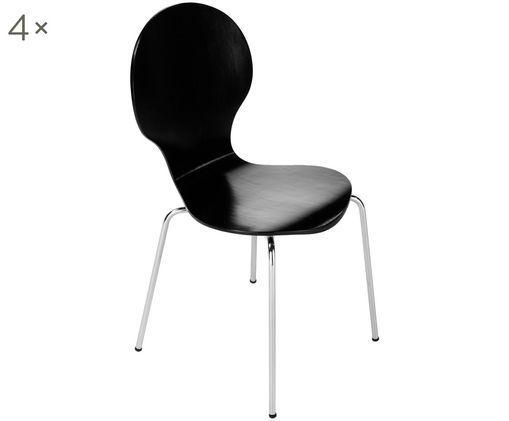 Krzesło Marcus, 4 szt., Czarny