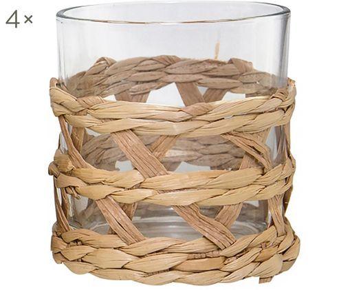 Bicchieri per l'acqua Osier, 4 pz., Trasparente, marrone
