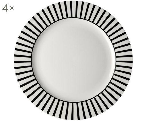 Sottopiatto Ceres Loft, 4 pz., Bianco, nero